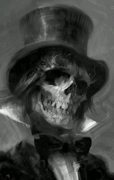 Death, Gothic Image, black and white painting.artist: Greg Pro info(at)gregpro.com http://www.gregpro.com/portfolio/character-design/