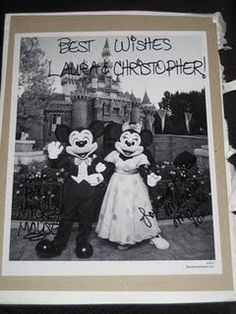 OMG so doing this - If you send Mickey and Minnie an invitation to your wedding, they'll send you and autographed photo!    South Buena Vista Street Burbank, California 91521
