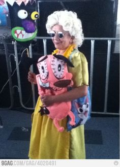 Muriel and Courage--Courage the Cowardly Dog--View more EPIC cosplay at http://pinterest.com/SuburbanFandom/cosplay/