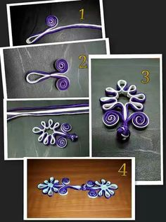 Macrame Patterns, Sewing Patterns, Chinese Flowers, Corset Pattern, Diy Buttons, Passementerie, Gold Work, Oriental Fashion, Button Flowers