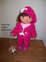"Wild, wild rose - 15""doll --image intense - Free Original Patterns - Crochetville"
