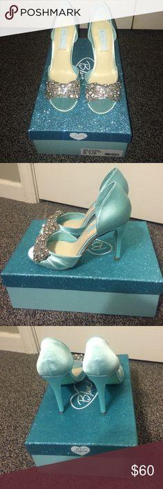Betsey Johnson Heels New blue satin shoes Betsey Johnson Shoes Heels