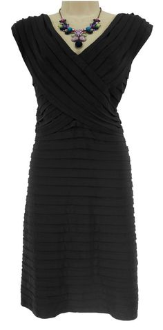 18W 2X NWT SEXY Womens BLACK TIERED COCKTAIL DRESS Evening Occasion PLUS SIZE #DressbarnCollection #TieredSheath #Cocktail