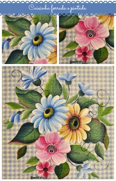 Atelier Gina Pafiadache: Caixinha forrada e pintada
