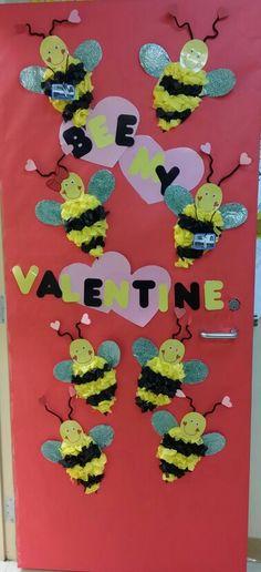 Valentine school door