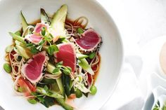 Turn delicious seared tuna, soba noodles and spicy dressing into a nutritious, tasty and fast weeknight meal.