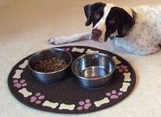 20 OFF PATTERN Lily's Pad Dog Feeding Mat In by betsyloupatterns