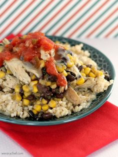 5-Ingredient Southwest Chicken Rice Bowls - The Weary Chef