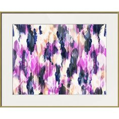 Hang this artful print above your living room seating group to create a stylish conversation space, or display it in the foyer for eye-catching appeal. This ...