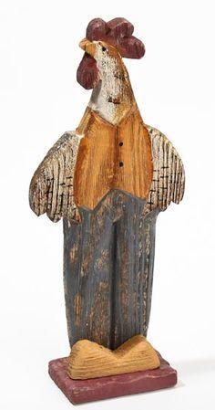 Primitive Wood Crafts | Primitive Wood Carved Rooster - * - Basic Craft Supplies - Craft ...