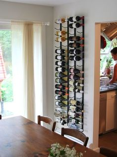 28 Amazing Home Wine Storage Ideas : 28 Amazing Home Wine Storage Ideas With Wine Rack And Modern Dining Table Design