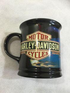 Harley Davidson coffee cup mug. 2007 Holiday Santa Rides mug. MINT CONDITION  | eBay