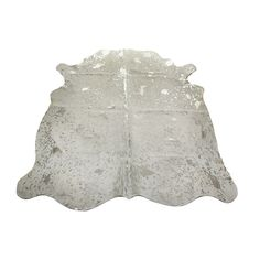 acid burnt cowhide rug whitesilver