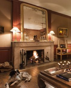 Warm atmosphere in the living room of Chateau de Courban, #Burgundy, #France