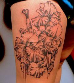 Linear Flower Tattoo Design ~ http://tattooeve.com/flower-tattoo/ Tattoo Design