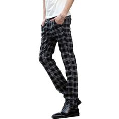 Magiftbox Mens British Style Checked Plaid Casual Pants Long Trousers K44_Black_32 Magiftbox,http://www.amazon.com/dp/B00EGP2UJY/ref=cm_sw_r_pi_dp_2eb0sb09K8A3E9X7