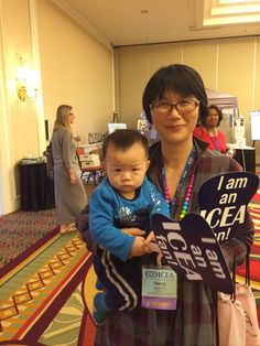 Sammy was in his mothers belly last year during the ICEA conference. This is his 2nd conference.