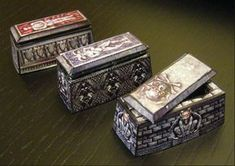 Fantasy Paper Miniature Models: Hero-quest style furniture for your dungeon