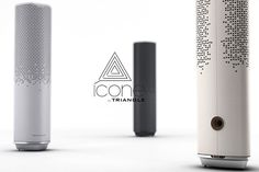 ICONE | Designed by TRIANGLE And Kevin DEPAPE, this amplified speaker produces 360 degree sound. It also features wireless technologies and smartphone apps integration.