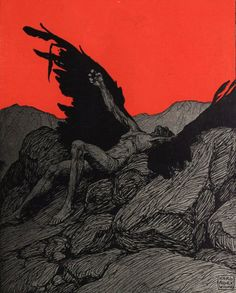 Illustration by German/Austrian artist, Karl Alexander Wilke Art And Illustration, Arte Obscura, Ange Demon, Demon Wings, Angels And Demons, Fallen Angels, Gravure, Dark Art, Les Oeuvres