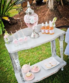 Vintage Shabby Chic Dress Up Party | CatchMyParty.com Drink Station