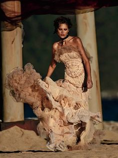Catherine McNeil in Jean Paul Gaultier by Gilles Bensimon