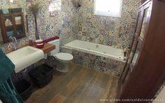 LAR DOCE LAR - Esse é novo e chiquérrimo banheiro do casal