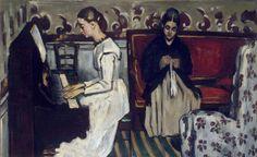 Jeune fille au piano - L'ouverture du Tannhaüser, 1869-70, Cézanne, (L'Ermitage, RU)