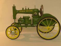 Folk Art Hand Made John Deere Sewing Machine Tractor One of A Kind   eBay