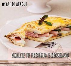 Omelete de Presunto e Requeijão - Fase de Ataque