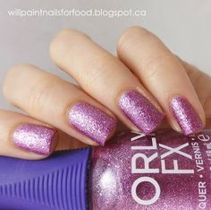 Orly MegaPixel FX collection - Orly Pink Pixel, is a very vivid rose-pink metallic texture. Like Aqua Pixel is has very fine micro-glitter and texture with very small hexes in a matching colour.