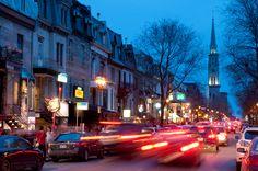 Rue St-Denis, Montréal, Québec