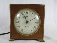 "ANTIQUE SETH THOMAS MANTLE CLOCK ~ Electric Works~Alarm ~1937 Patent ~USA ~5.25"""