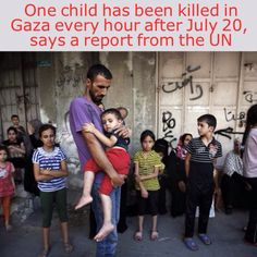 One child has been killed in Gaza every hour after July 20, says a report from the United Nations.