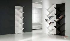 Espiga Bookcase by Kendo Mobiliario Built In Furniture, Smart Furniture, Steel Furniture, Furniture Design, Kendo, Living Room Partition Design, Room Partition Designs, Cupboard Wardrobe, Shelving Systems