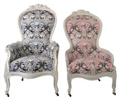 King & Queen Victorian Skull Chairs