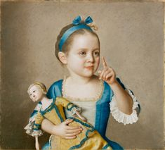 Jean-Etienne Liotard, Marianne Liotard Holding a Doll