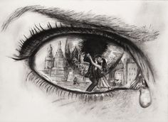 Medium: Charcoal on Paper Paper Weight: 110 Ibs. 25% cotton. Charcoal Pencils: HB, B, 3B and Chalk for highlighting.