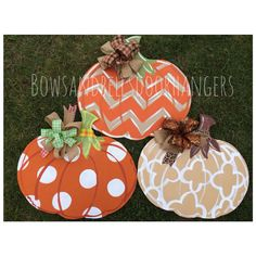 Pumpkin door hanger fall wreath fall door by BowsandBellsHangers, $38.99
