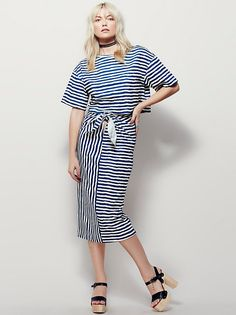Striped Knit Set
