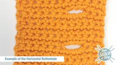 How to Crochet the Horizontal Buttonhole