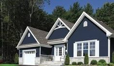 Dark Blue Vinyl Siding With White Trim Kwp Naturetech Siding Traditional Exterior Dark Blue Siding On Houses Dark Blue Siding With Red Brick Vinyl Siding Colors, Siding Colors For Houses, Exterior Siding Colors, Blue Siding, Exterior House Siding, Exterior Paint Colors For House, Paint Colors For Home, Exterior Design, Wood Siding