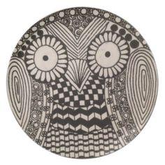 Owl Plate Pinned by www.myowlbarn.com