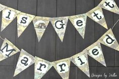 Travel Themed Vintage Bridal Shower, Wedding, Party Banner or Photo Prop. $23.95, via Etsy.