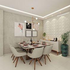 A imagem pode conter: mesa e área interna Home Room Design, Home Office Design, Dining Room Design, Home Interior Design, Interior Decorating, House Rooms, Home And Living, Home Furniture, Room Decor
