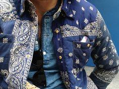 Blue paisley bandana jacket
