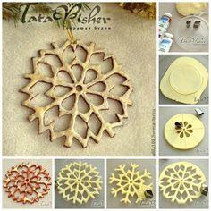 The Perfect DIY Salt Dough Snowflake Ornaments