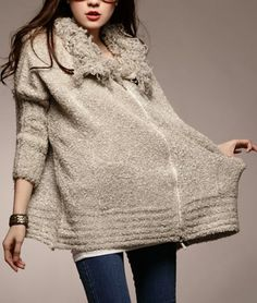 Knit Wool Nude Winter Cardigan