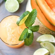 These Fresh Cantaloupe Margaritas are the perfect brunch cocktail or a ...