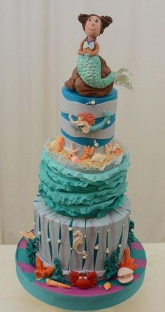 Little Mermaid on Her Cake